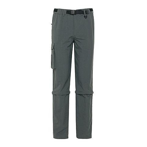 Columbia/哥伦比亚男灰色锦纶抗污防紫外线UPF50宽松剪裁长短两穿休闲裤PM8825028