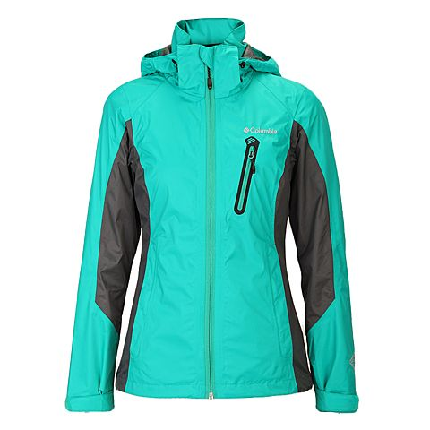 Columbia/哥伦比亚春夏 水绿色女款 防水透气 户外休闲 单层冲锋衣 PL2405922