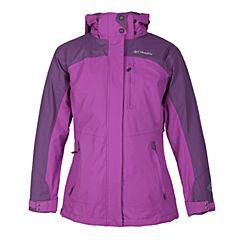 Columbia/哥伦比亚 新品女紫色三合一冲锋衣PL7043581