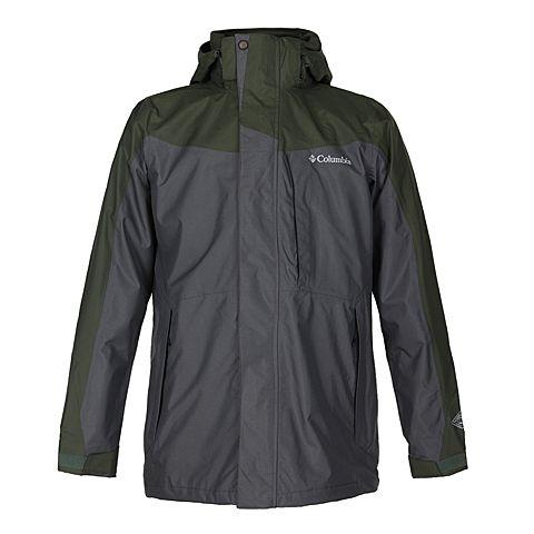 Columbia/哥伦比亚  新品男绿色三合一冲锋衣PM7787347