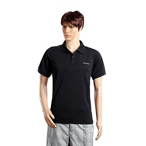 Columbia/哥伦比亚春夏男黑色野外探索100% 涤纶POLO短袖T恤PM5831010