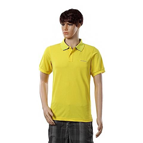 Columbia/哥伦比亚春夏男黄色野外探索POLO短袖T恤PM5831736