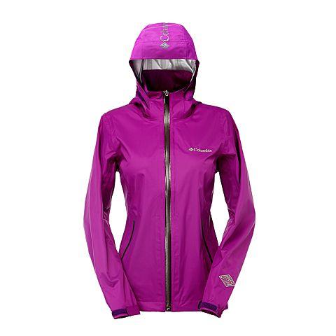 Columbia/哥伦比亚春夏女紫色野外探索2.5层冲锋衣PL2407575--OMNI-TECH