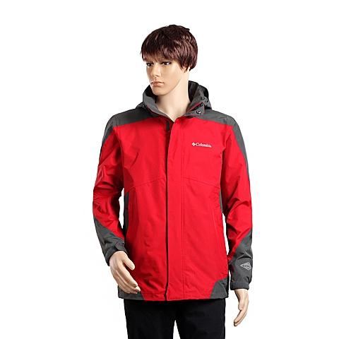 Columbia/哥伦比亚春夏男红色野外探索2层冲锋衣PM5813675