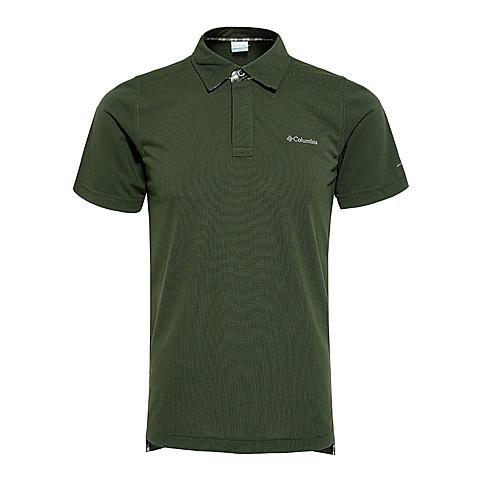 Columbia/哥伦比亚春夏 男子绿色 速干 防晒 短袖POLO衫PM5835347