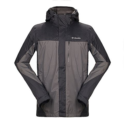 Columbia/哥伦比亚专柜同款 男士灰色户外防水透气单层冲锋衣PM2397028