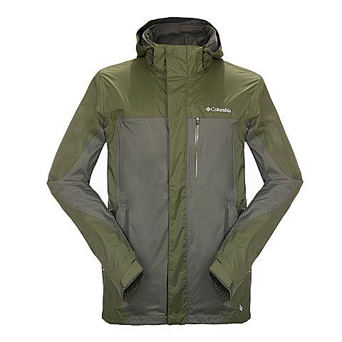 Columbia/哥伦比亚专柜同款 男士军绿色户外防水透气单层冲锋衣PM2397339