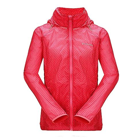 Columbia/哥伦比亚 专柜同款 红色女士可收纳连帽皮肤衣PL2289