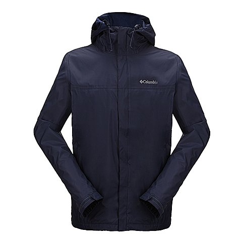 Columbia/哥伦比亚 专柜同款 蓝色男子外防水透气冲锋衣RE2433