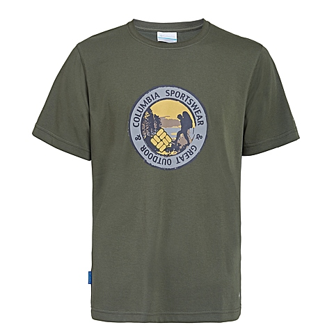 Columbia/哥伦比亚 2016专柜同款男子户外印花速干短袖T恤PM1780347