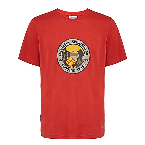Columbia/哥伦比亚 2016专柜同款男子户外印花速干短袖T恤PM1780698