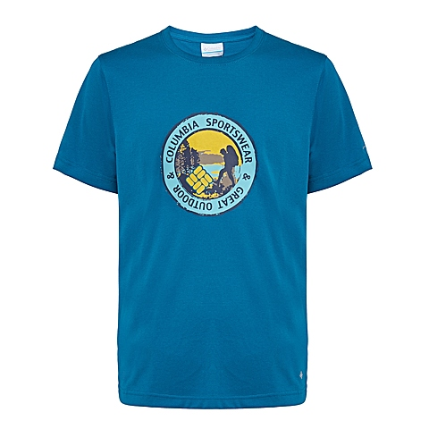 Columbia/哥伦比亚 专柜同款男子户外印花速干短袖T恤PM1780937