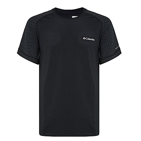 Columbia/哥伦比亚 专柜同款 男子户外速干弹性舒适短袖T恤AE1130010