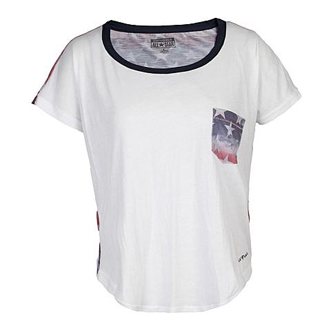CONVERSE/匡威 新款美国风女子短袖薄针织衫11651C102