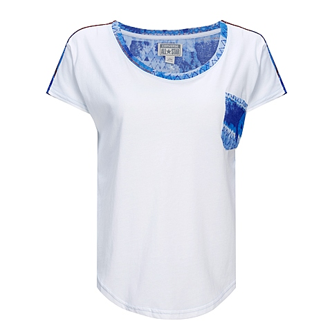 CONVERSE/匡威 新款美国风女子短袖薄针织衫11650C102