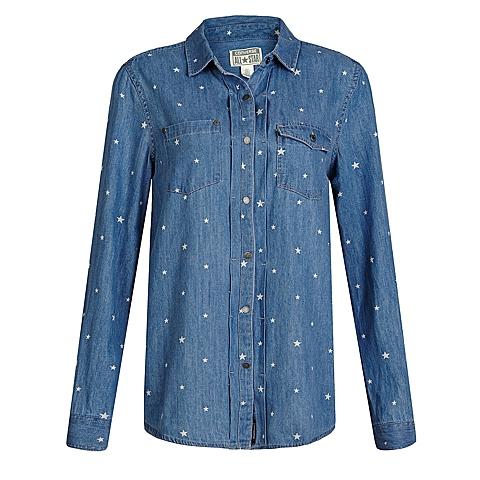 CONVERSE/匡威 新款女子时尚系列长款长袖衬衫12562C468