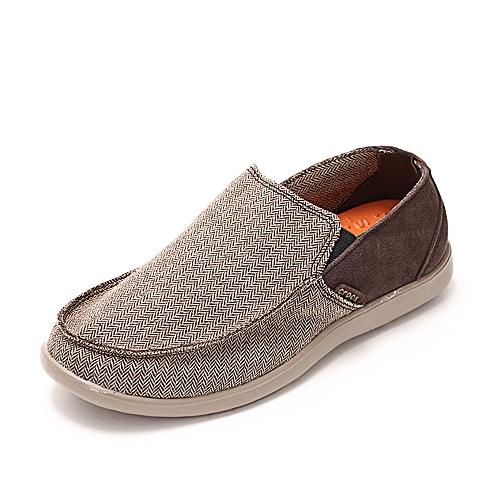 Crocs 卡骆驰 男子 专柜同款 圣克鲁兹风尚便鞋 深咖啡/蘑菇色 满帮鞋帆船鞋休闲鞋 14768-23D