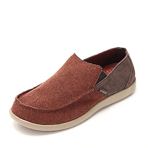 Crocs 卡骆驰 男子  专柜同款 圣克鲁兹风尚便鞋 铁锈红/卡其 满帮鞋帆船鞋休闲鞋 14768-821