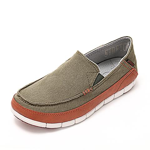 Crocs 卡骆驰 男子  专柜同款 男士舒跃奇便鞋 军绿色/铁锈红 满帮鞋帆船鞋休闲鞋 14773-38U