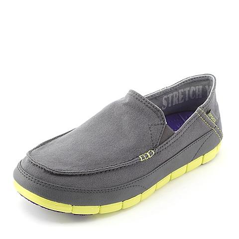 Crocs 卡骆驰 男子  专柜同款 男士舒跃奇便鞋 炭灰/柑桔色 满帮鞋帆船鞋休闲鞋 14773-00T