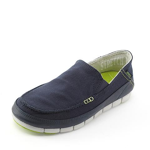 Crocs 卡骆驰 男子  专柜同款 男士舒跃奇便鞋 深蓝/珍珠白 满帮鞋帆船鞋休闲鞋 14773-464