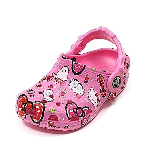 crocs卡骆驰 儿童 春夏专柜同款欢乐凯蒂猫小克骆格  派对粉 洞洞鞋凉鞋沙滩鞋16296-6U9