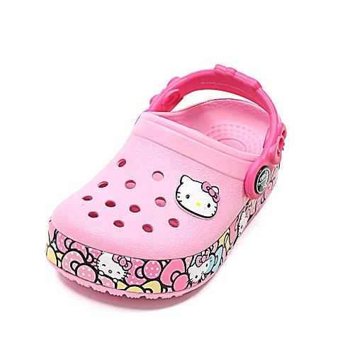 crocs卡骆驰 儿童 春夏专柜同款酷闪凯蒂猫小克骆格  肉粉色  洞洞鞋凉鞋沙滩鞋 201262-6I2