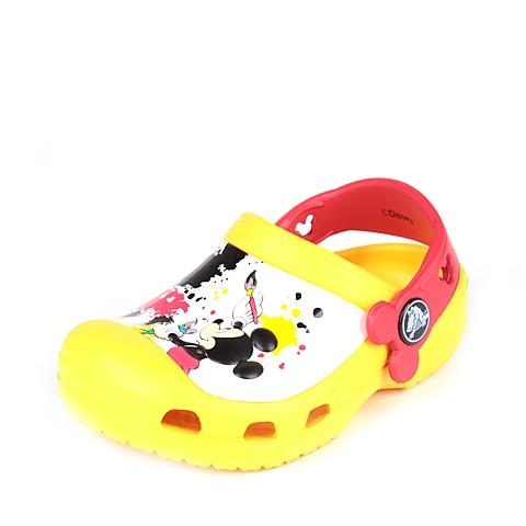 crocs卡骆驰 儿童 春夏专柜同款炫彩米奇小克骆格 黄色 洞洞鞋凉鞋沙滩鞋 15856-730