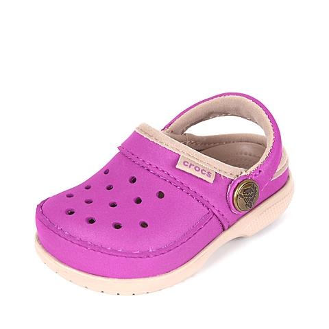 Crocs 卡骆驰 儿童  专柜同款 卡乐彩小克骆格 紫罗兰/草灰 洞洞鞋塑模鞋凉鞋沙滩鞋 200363-5B0