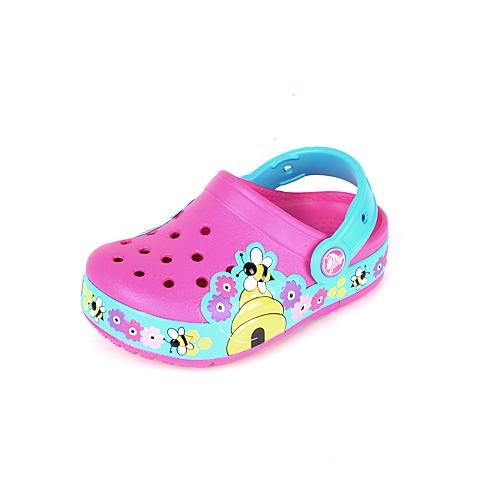 Crocs卡骆驰 儿童  专柜同款  酷闪小蜜蜂童鞋 亮光红/电光蓝 洞洞鞋塑模鞋凉鞋沙滩鞋 15632-6Y5