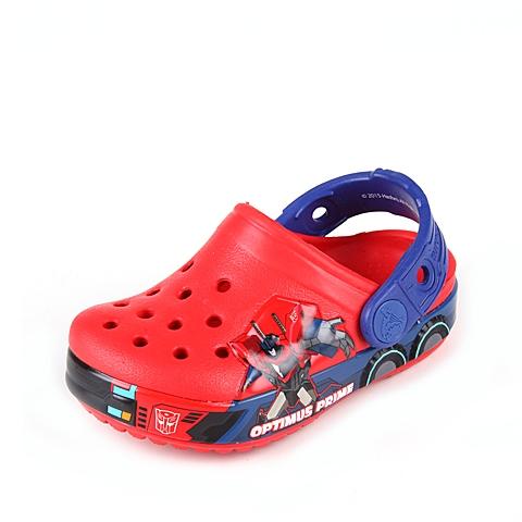 crocs卡骆驰 儿童   专柜同款 变形金刚擎天柱小克骆格 火红/蔚蓝 洞洞鞋凉鞋沙滩鞋 201812-8C6