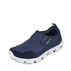 crocs卡骆驰 男子   专柜同款  男士迪特帆布便鞋 深蓝/浅灰 满帮鞋帆船鞋休闲鞋 201885-41S
