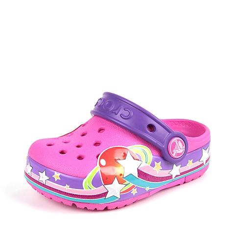 Crocs卡骆驰 儿童 专柜同款 酷闪星球小克骆格 亮光红  洞洞鞋 凉鞋 沙滩鞋 201401-6L0