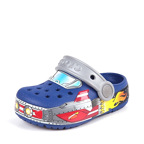 Crocs卡骆驰 儿童  专柜同款 酷闪火箭小克骆格 蔚蓝色  洞洞鞋 凉鞋 沙滩鞋 201403-4O5