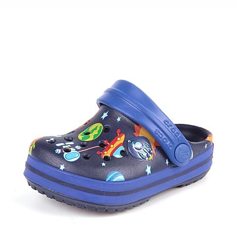 Crocs卡骆驰 儿童 专柜同款 奇幻太空小卡骆班 海军蓝/蔚蓝  洞洞鞋 凉鞋 沙滩鞋 202271-4Q9