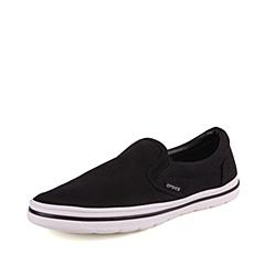 Crocs卡骆驰  男子 专柜同款 诺林男式帆布便鞋 黑/白 洞洞鞋 凉鞋 沙滩鞋 201084-066