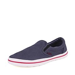 Crocs卡骆驰  男子  专柜同款 诺林男式帆布便鞋 深蓝/白 洞洞鞋 凉鞋 沙滩鞋 201084-462