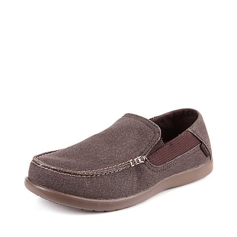 Crocs卡骆驰  男子  专柜同款 圣克鲁兹帆布便鞋二代 深咖啡/胡桃色 洞洞鞋 凉鞋 沙滩鞋 202056-23B