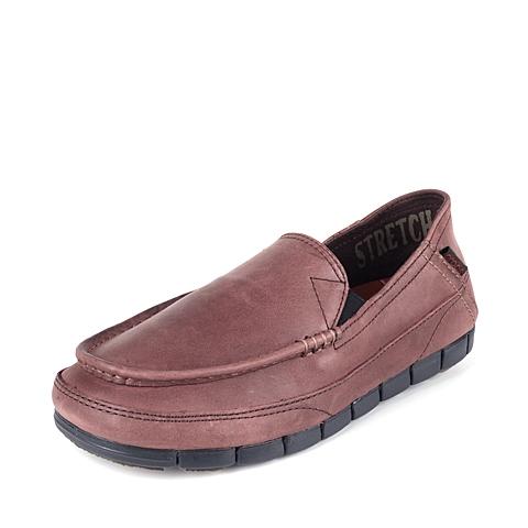 Corcs 卡骆驰 男子 专柜同款 舒跃奇睿智便鞋 深咖啡色/黑 满帮鞋帆船鞋休闲鞋 201771-23K
