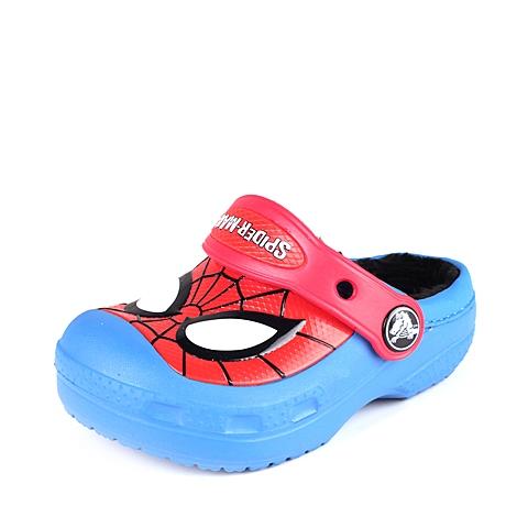 Crocs卡骆驰 儿童 专柜同款 蜘蛛侠暖棉小克骆格  学院蓝  保暖童鞋 室内鞋 16300-4I7