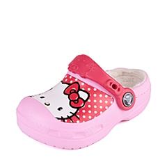 Crocs卡骆驰 儿童  专柜同款 凯蒂猫波点暖棉克骆格 肉粉色  保暖童鞋 室内鞋 200914-6I2