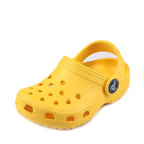 Crocs卡骆驰 儿童 春夏 专柜同款 经典小克骆格 阳光黄 沙滩 旅行 戏水 童鞋 10006-769