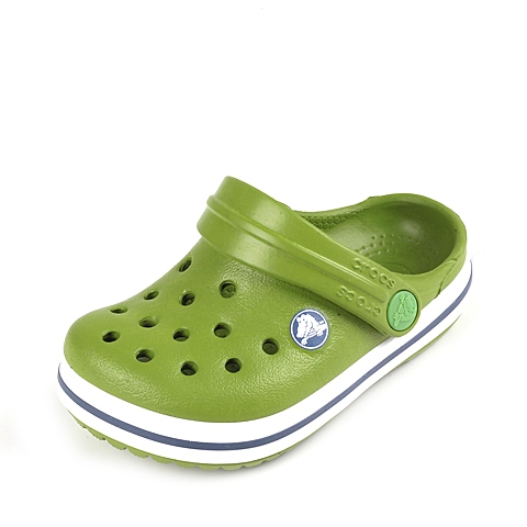 Crocs卡骆驰 儿童 2016春夏 专柜同款 小卡骆班 鹦鹉绿/白色  沙滩 旅行 戏水 童鞋 10998-34S