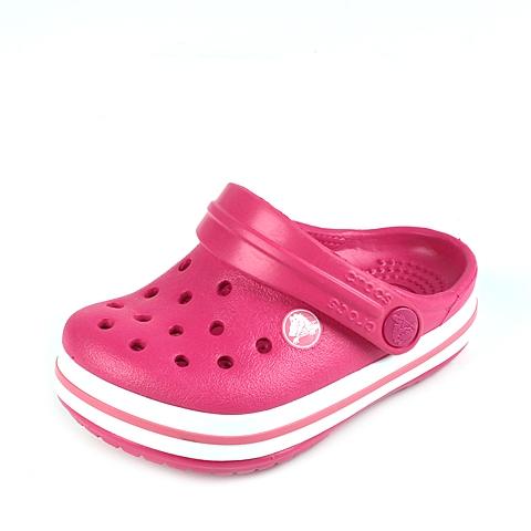 Crocs卡骆驰 儿童 春夏 专柜同款 小卡骆班 莓红/白色  沙滩 旅行 戏水 童鞋 10998-604