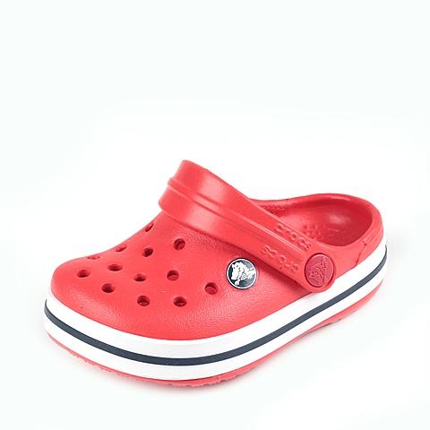 Crocs卡骆驰 儿童 春夏 专柜同款 小卡骆班 火红/白色  沙滩 旅行 戏水 童鞋 10998-884