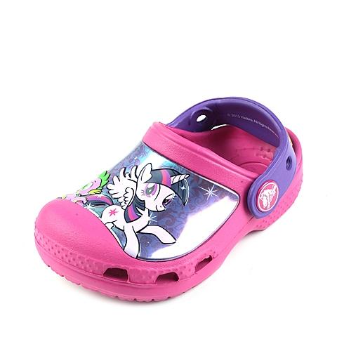 Crocs卡骆驰 儿童 2016春夏 专柜同款 小马宝莉克骆格  糖果粉 沙滩 旅行 戏水 童鞋 201191-6X0