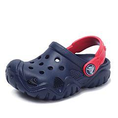 Crocs卡骆驰 儿童 春夏 专柜同款 激浪小克骆格  深蓝/火红  沙滩 旅行 戏水 童鞋 202607-4BA