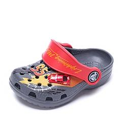 Crocs卡骆驰 儿童 春夏 专柜同款 经典麦昆小克骆格  炭灰/暗红  沙滩 旅行 戏水 童鞋 202676-02H