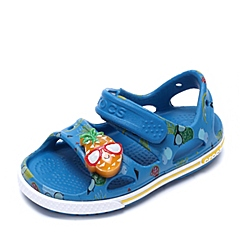 Crocs卡骆驰 儿童 春夏 专柜同款 卡骆班菠萝宝宝LED小凉鞋  天青蓝 沙滩 旅行 戏水 童鞋 202823-4GL