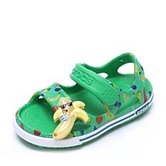 Crocs卡骆驰 儿童 春夏 专柜同款 卡骆班香蕉宝宝LED小凉鞋 草绿 沙滩 旅行 戏水 童鞋 203230-3E8